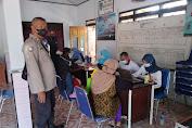 Kapolsek Pegandon Lakukan Monitoring Pelaksanaan Vaksin Di Wilayah Ngampel