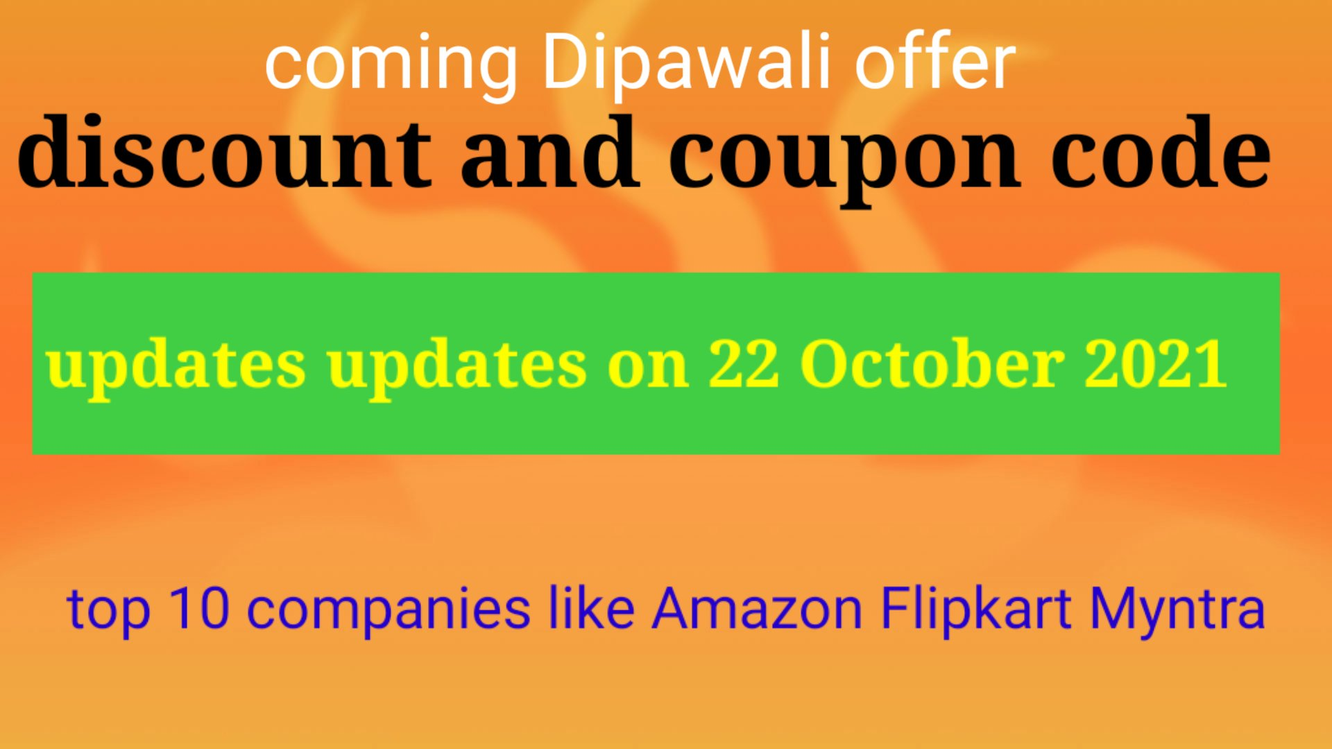 Best Deal  & coupon code updates on 22/10/2021 , Dipawali Offer
