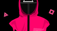 Squid game - pink soldier mobile walpaper