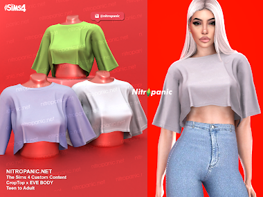 Crop top for The Sims 4