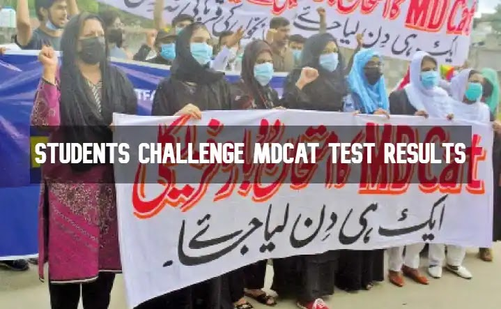 Students Challenge MDCAT Test Results