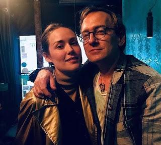 Dan Estabrook with his partner Megan Boone