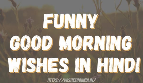 Funny Good Morning Wishes In Hindi