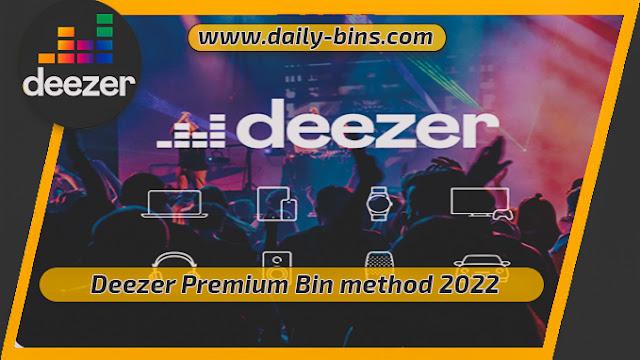 Deezer Premium Bin method 2022