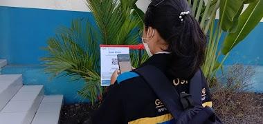 Kegiatan Pembelajaran Tatap Muka Terbatas, Patuhi Protokol Kesehatan dengan scan QR Code Aplikasi PeduliLindungi.