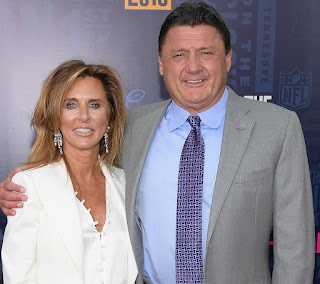 Ed Orgeron with his ex-wife Kelly