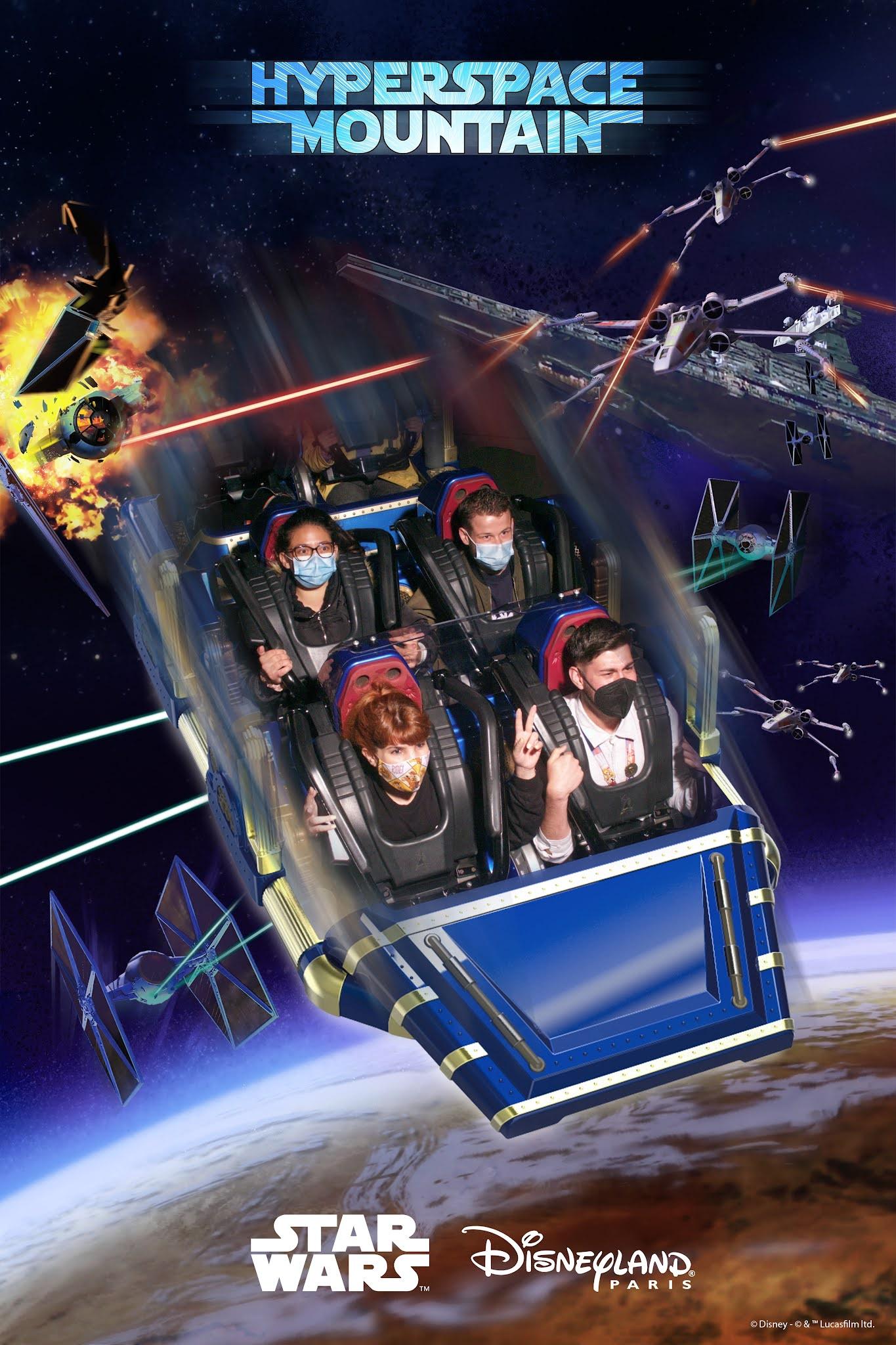 Hyperspace Mountain PhotoPass Disneyland Paris