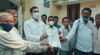 भारतीय किसान संघ ने अनुविभागीय अधिकारी महोदय के नाम सौंपा ज्ञापन
