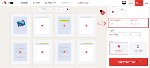 Cara Menambahkan Watermark Text/Gambar Pada File PDF