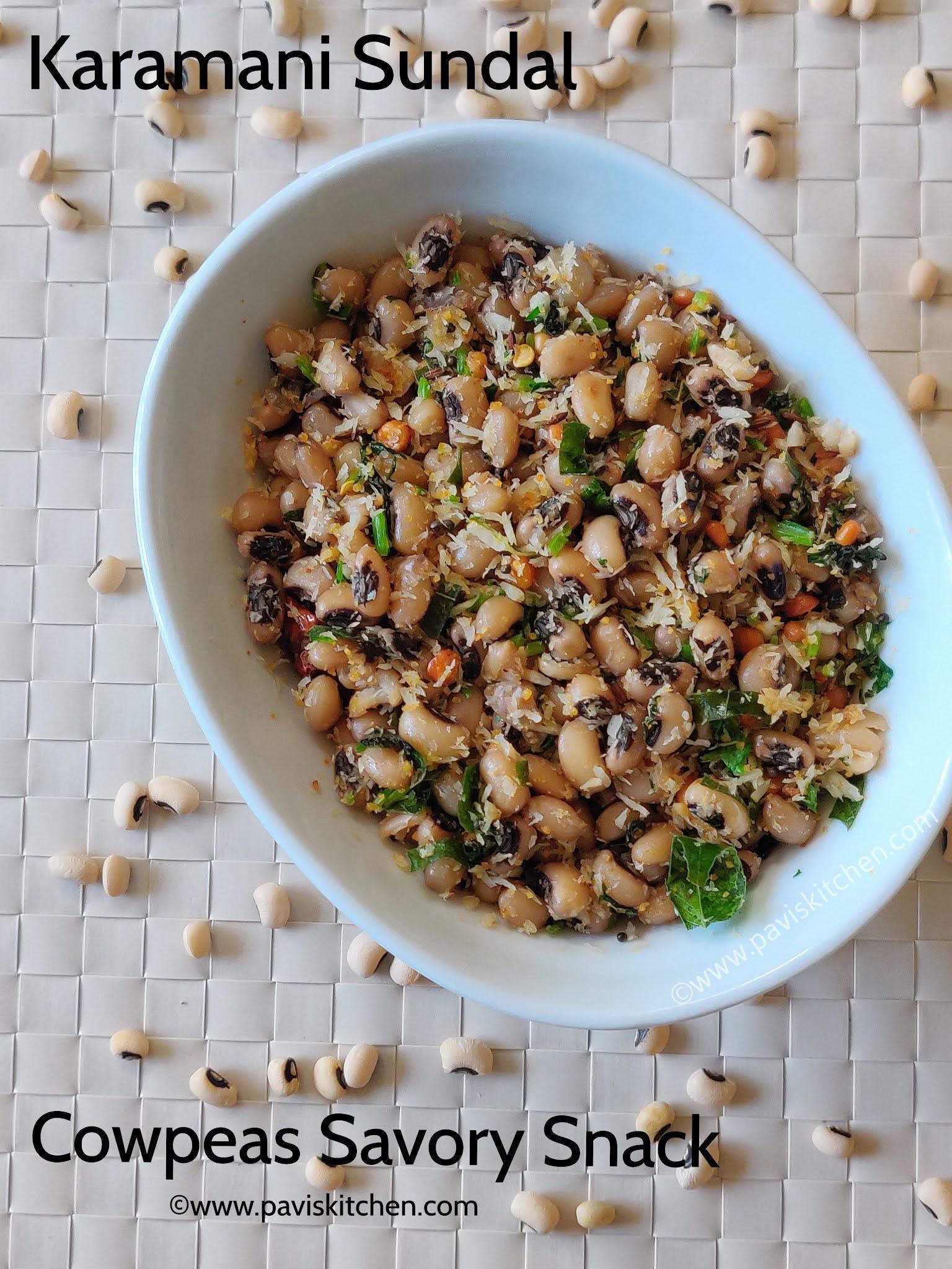Karamani sundal recipe   black eyed peas sundal   white karamani sundal   lobia sundal