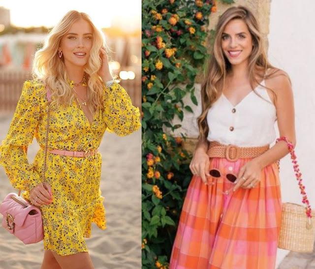 Combinações de cores para looks estilosos, Valentina Ferragni, Julia Berolzheimer
