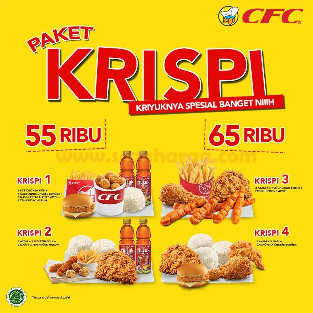 Promo CFC Paket KRISPI Harga Mulai 55 RB* Kriyuknya spesial banget niih