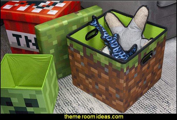 Minecraft Grass Block Storage Cube Organizer Minecraft Storage Cube