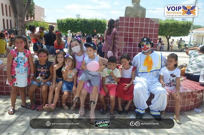 Secretarias de Educação e Assistência Social de Amparo realizaram evento alusivo ao Dia das Crianças