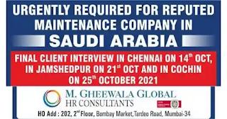 Maintenance Company Job Vacancies Saudi