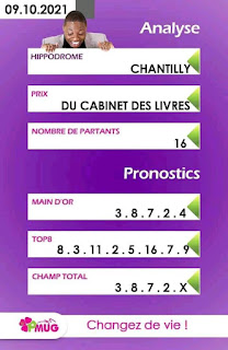 Pronostics quinté+ pm samedi Paris-Turf TV-100 % 09/10/2021