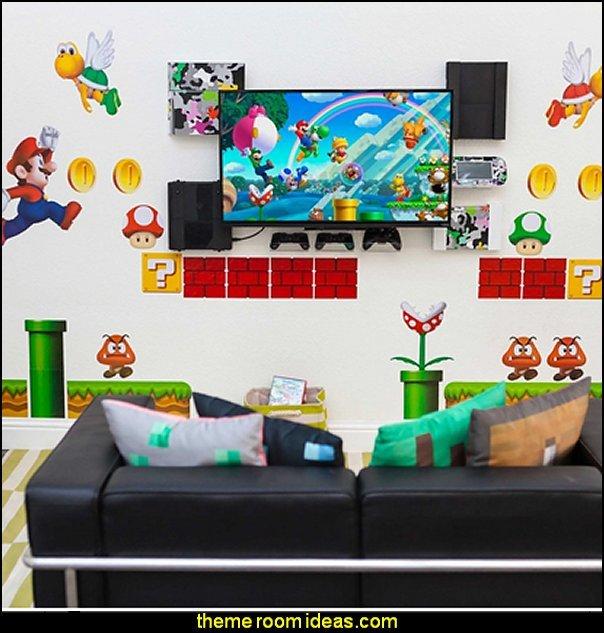 Super Mario Brothers Wall decals Super Mario  Wall Stickers super mario wall decor