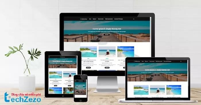 Adventur Travel Responsive Blogger Template Free Download