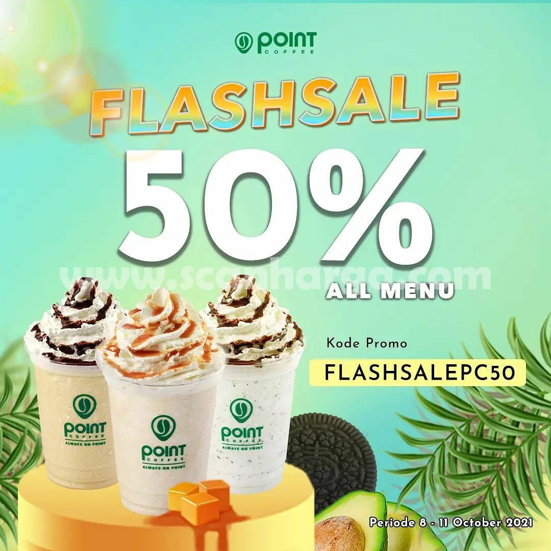 Promo POINT COFFEE GRABFOOD FLASH SALE DISKON 50%
