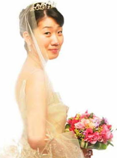 Picture of Yoo Hye-yeon in her wedding dress