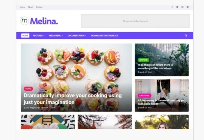 Melina Blogger template Download Free