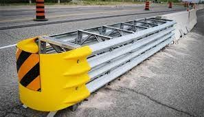 Highway Crash Cushions are used as a buffer on turns or curves to minimize the damage of the colliding/out-of-control vehicles