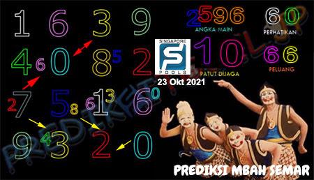 Prediksi Mbah Semar SGP Sabtu 23-Okt-2021