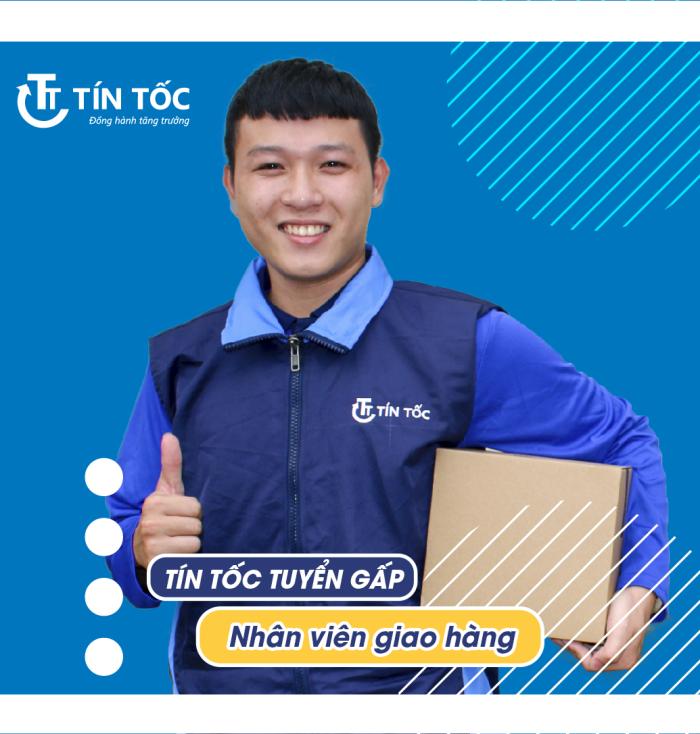 Nhân viên giao hàng tại Tín Tốc