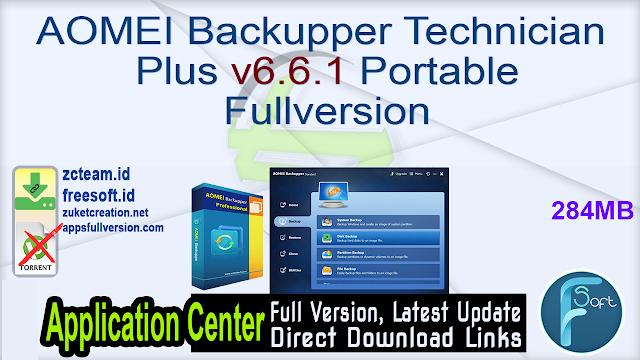 AOMEI Backupper Technician Plus v6.6.1 Portable Fullversion
