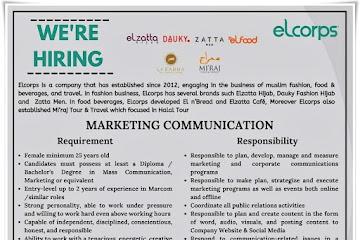Loker Bandung Marketing Communication Elcorps
