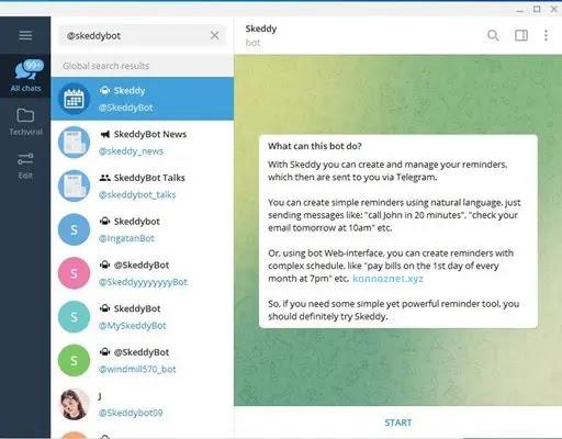 بوت Skeddy Telegram Bot