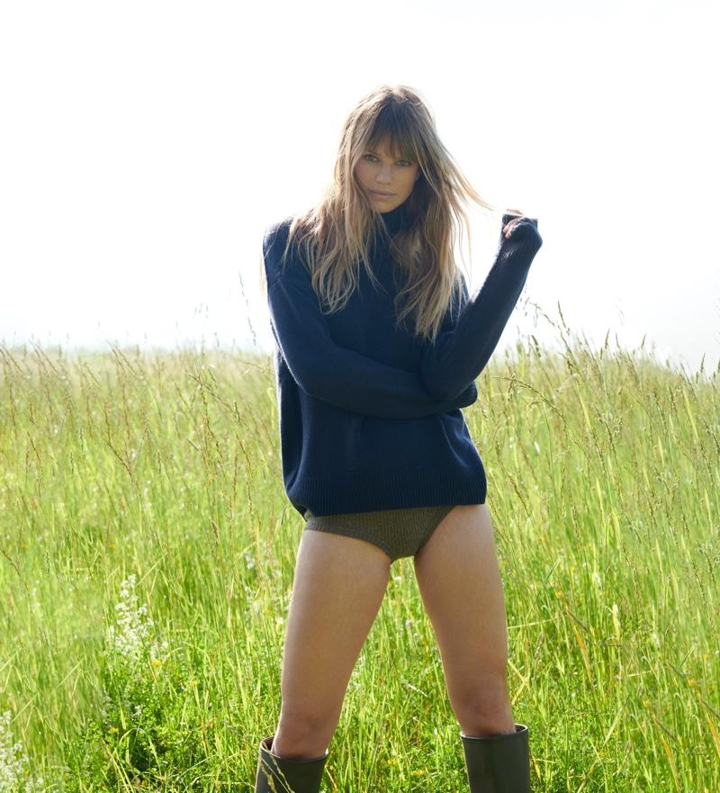 Nadine Leopold fronts NAKEDCASHMERE Naked in October 2021 campaign
