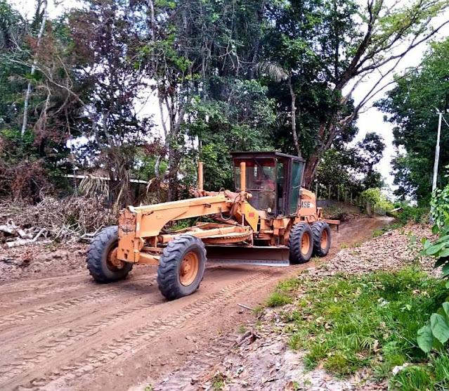Gestão Nélio realiza melhorias nas vicinais que dão acesso às comunidades Irurama e Santa Luzia no Eixo Forte