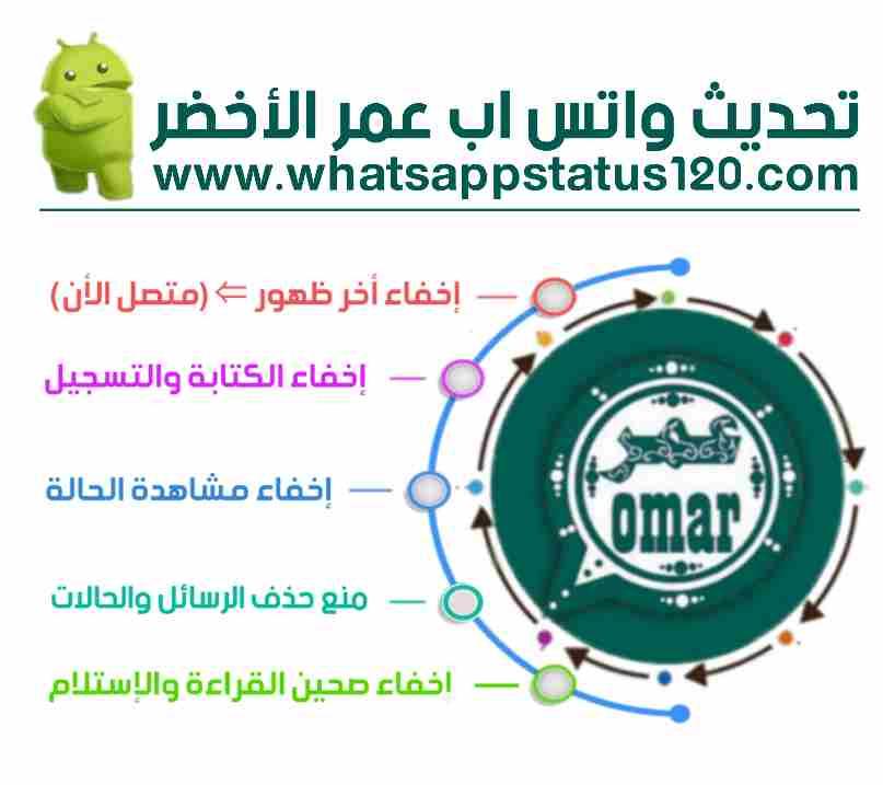تنزيل واتساب عمر الأخضر آخر إصدار من الموقع الرسمي OB4WhatsApp التحديث الأخير برابط مباشر