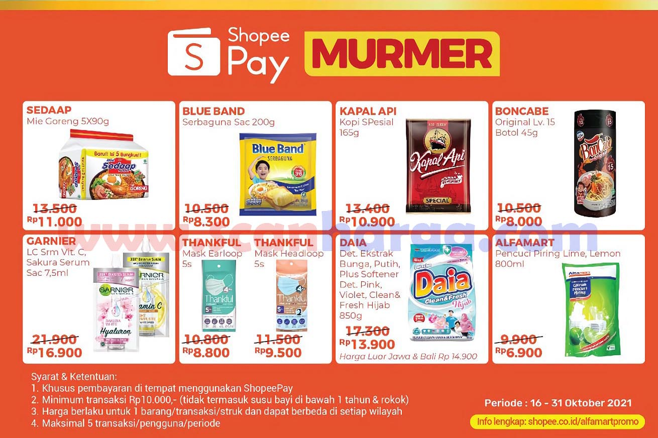 Promo Alfamart ShopeePay 16 - 31 Oktober 2021