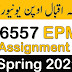 AIOU 6557 Educational Planning I Solved Assignment Spring 2021