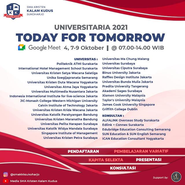 Universitaria 2021: Today for Tomorrow