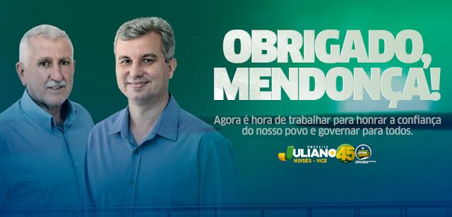 Posse do novo prefeito de Mendonça está marcada para o dia 13 de novembro