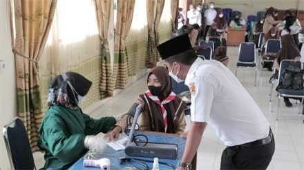 Wawako Kunjungi Gebyar Vaksinasi di SMPN 5 Kota Solok