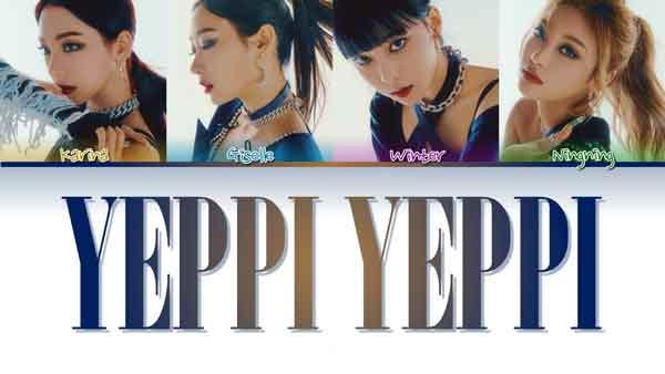 aespa yeppi yeppi english translation lyrics genius