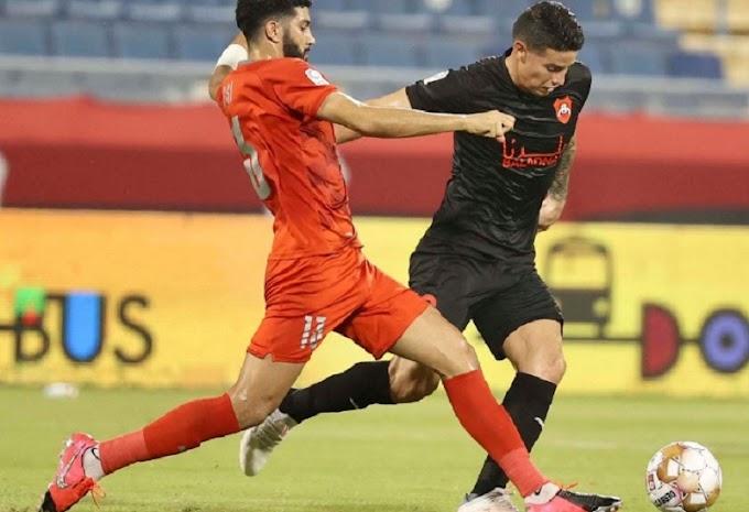 Negro debut de James Rodríguez en la Liga de Catar: En sus primeros minutos, Al-Rayyan cayó goleado