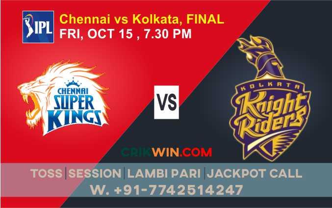 Chennai vs Kolkatta IPL T20 Final Match Today 100% Match Prediction Who will win - Cricfrog