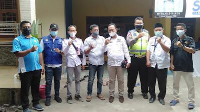 Serbuan Vaksinasi,  H.Asnawi A Camat Pakuhaji Tinjau Lokasi Vaksi di Desa Rawa Boni RT.004/001