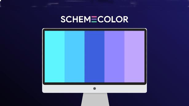 ιστοσελίδα με παλέτες χρωμάτων