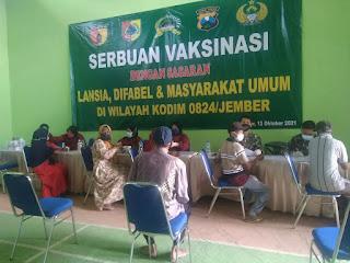 Percepatan Vaksinasi, Camat Puger Tinjau Pelaksanaan Vaksinasi di Desa Kasiyan