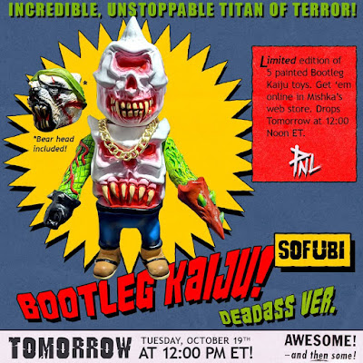 Bootleg Kaiju Deadass Edition Vinyl Figure by Mishka x PNL Toy Works