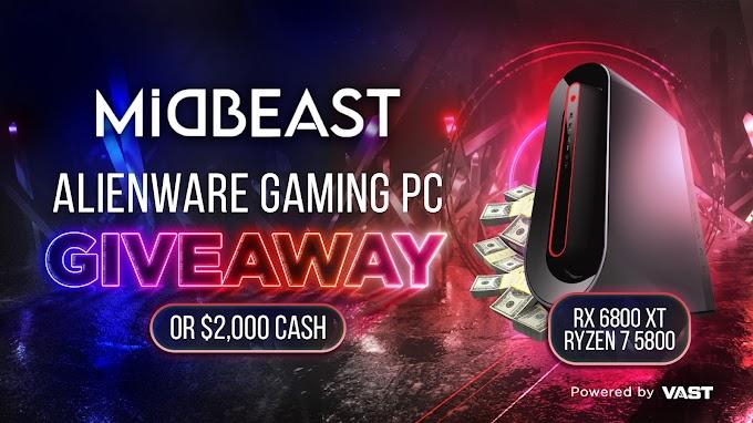 Sorteio PC Gamer Alienware ou $2,000 dólares em dinheiro