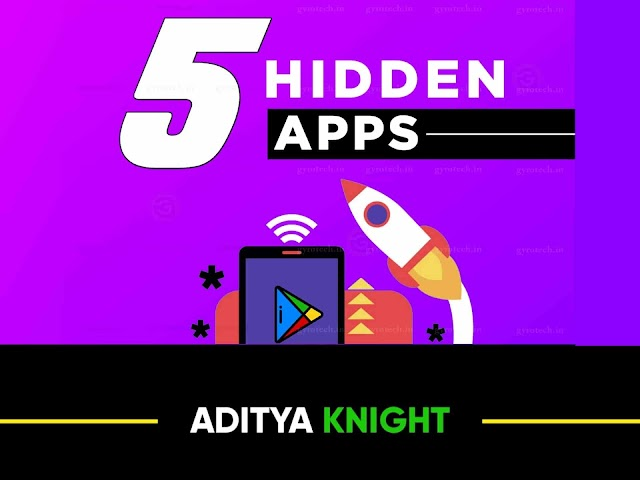 5 HIDDEN Android Apps You Should  Definitely Try | Amazing Apps For Android