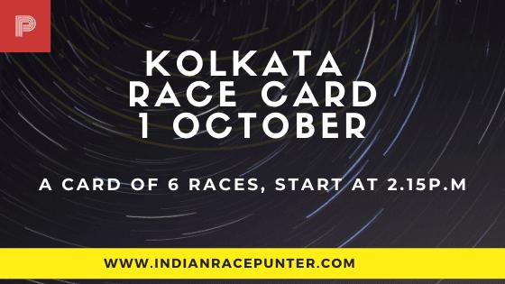 Kolkata Race Card 1 October