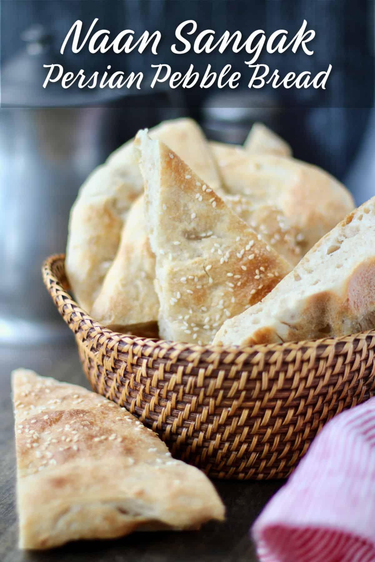 Persian Pebble Bread in basket